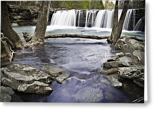 Richland Creek Greeting Cards - 0804-3327 Falling Water Falls 1 Greeting Card by Randy Forrester