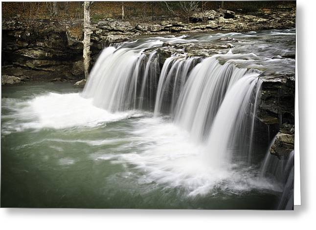 Richland Creek Greeting Cards - 0805-005b Falling Water Falls 2 Greeting Card by Randy Forrester