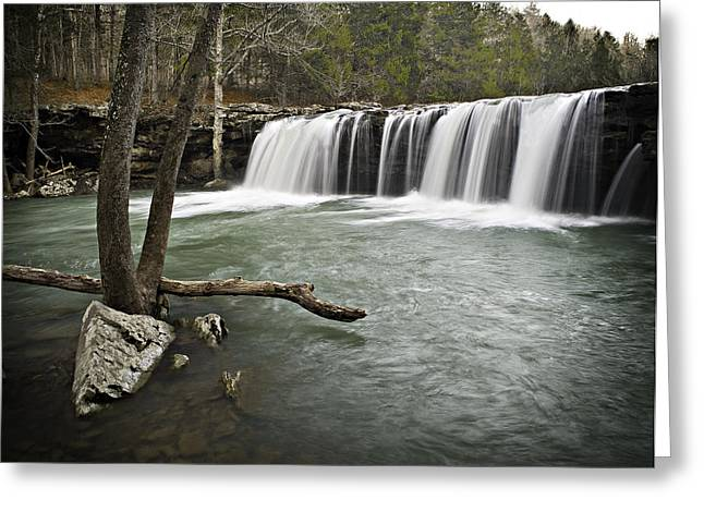 Richland Creek Greeting Cards - 0805-0070 Falling Water Falls 3 Greeting Card by Randy Forrester