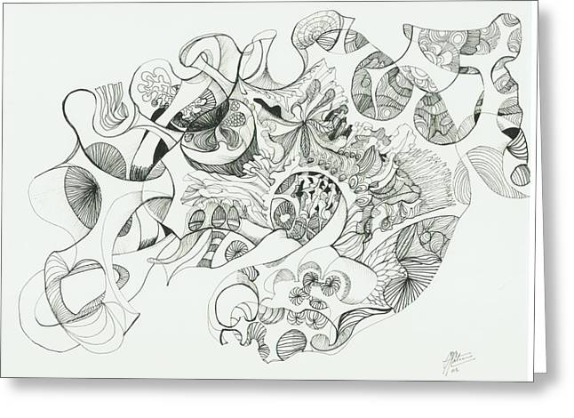 Organic Drawings Greeting Cards - 0811-13 Greeting Card by Charles Cater