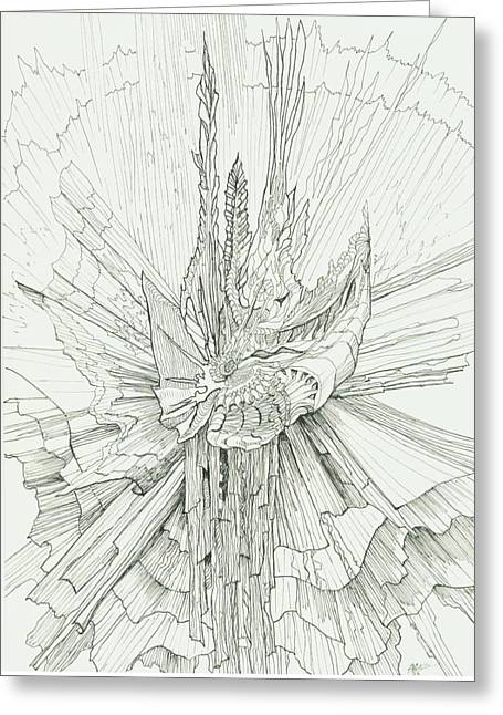 Organic Drawings Greeting Cards - 0811-15 Greeting Card by Charles Cater