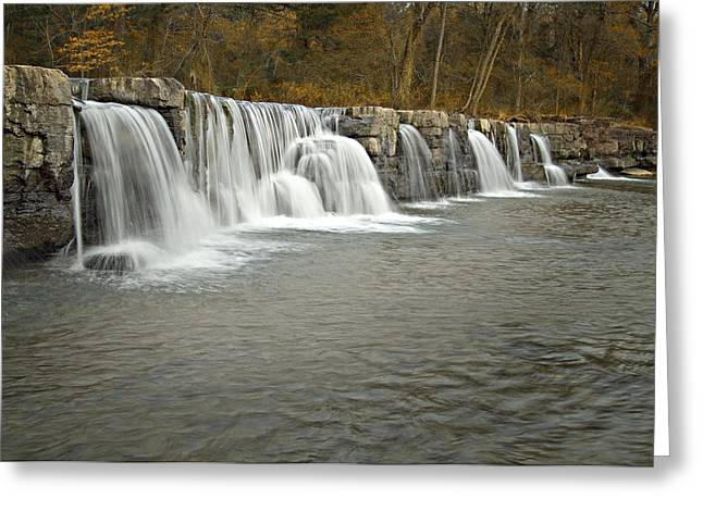 Crawford County Greeting Cards - 0902-6916 Natural Dam 1 Greeting Card by Randy Forrester