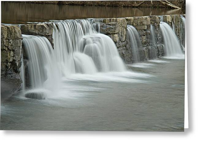 Natural Dam Arkansas Greeting Cards - 0902-7009 Natural Dam 2 Greeting Card by Randy Forrester