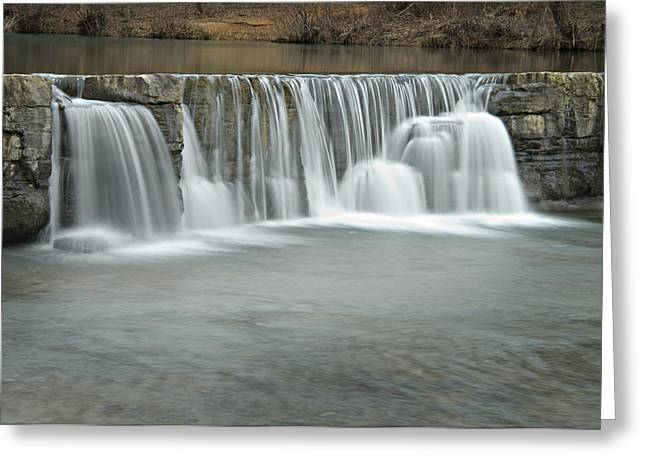 Natural Dam Arkansas Greeting Cards - 0902-7025 Natural Dam 3 Greeting Card by Randy Forrester