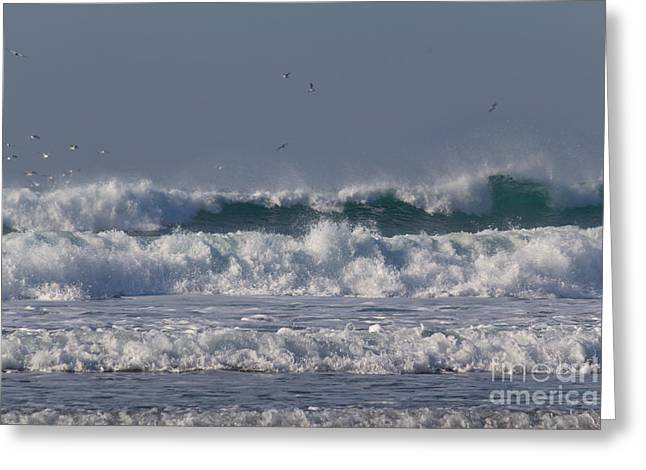 Surfing Photos Greeting Cards -  Porthtowan Cornwall Greeting Card by Brian Roscorla
