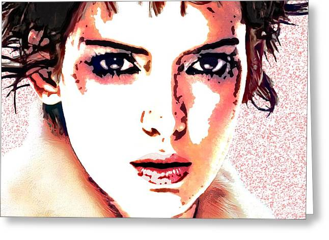 Startrek Greeting Cards -  Winona Ryder Portrait C Greeting Card by Andre Drauflos