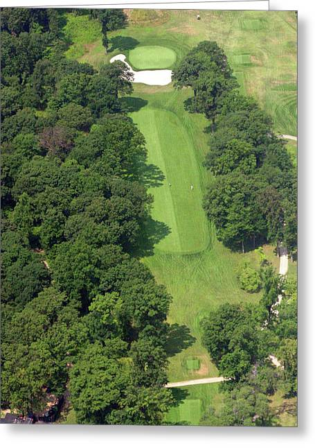 Plymouth Meeting Aerials Greeting Cards - 12th Hole Sunnybrook Golf Club Greeting Card by Duncan Pearson