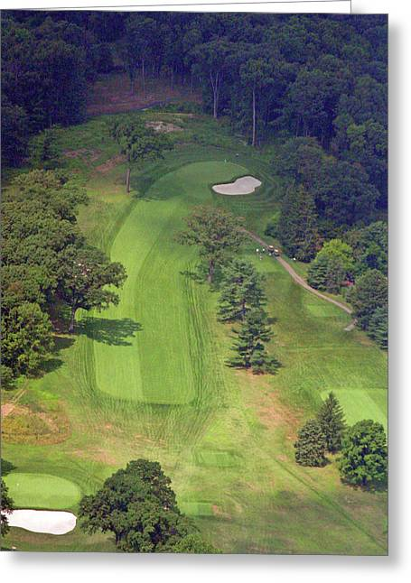 Plymouth Meeting Aerials Greeting Cards - 13th Hole Sunnybrook Golf Club Greeting Card by Duncan Pearson
