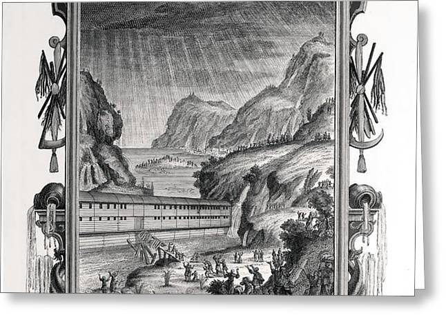 1731 Johann Scheuchzer Noah's Ark Flood Greeting Card by Paul D Stewart