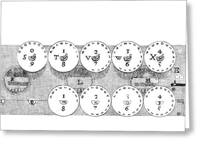 Mechanism Greeting Cards - 17th Century Calculator, Artwork Greeting Card by Library Of Congress