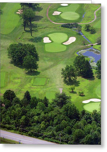 Plymouth Meeting Aerials Greeting Cards - 17th Hole Sunnybrook Golf Club Greeting Card by Duncan Pearson