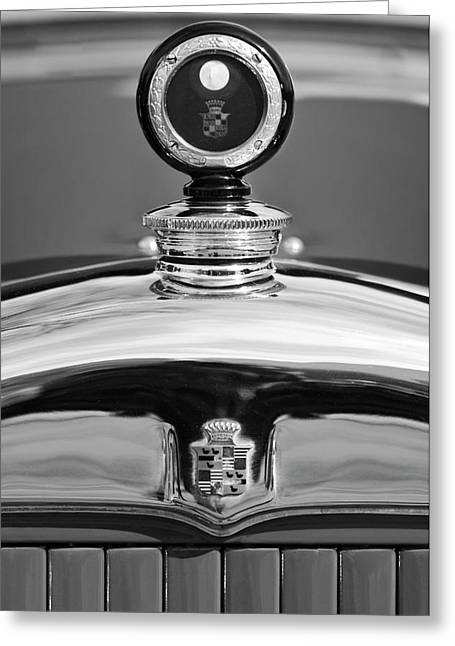 Motometer Greeting Cards - 1926 Cadillac Series 314 Custom Hood Ornament Greeting Card by Jill Reger