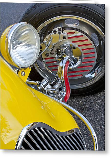 1929 Roadster Greeting Cards - 1929 Ford Model A Roadster Wheel Greeting Card by Jill Reger