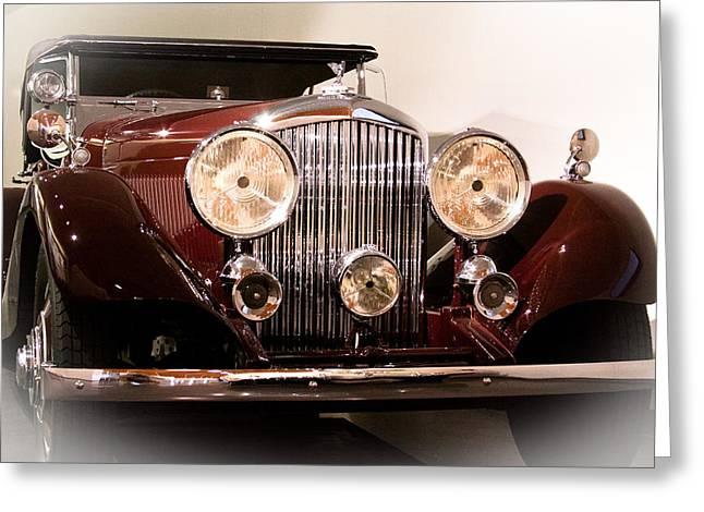 Radiator Badge Greeting Cards - 1934 Bentley 3.5 Liter Tourer Greeting Card by David Patterson