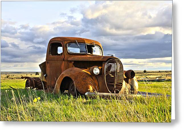 1949 Plymouth Greeting Cards - 1938 Ford Pickup Greeting Card by Steve McKinzie