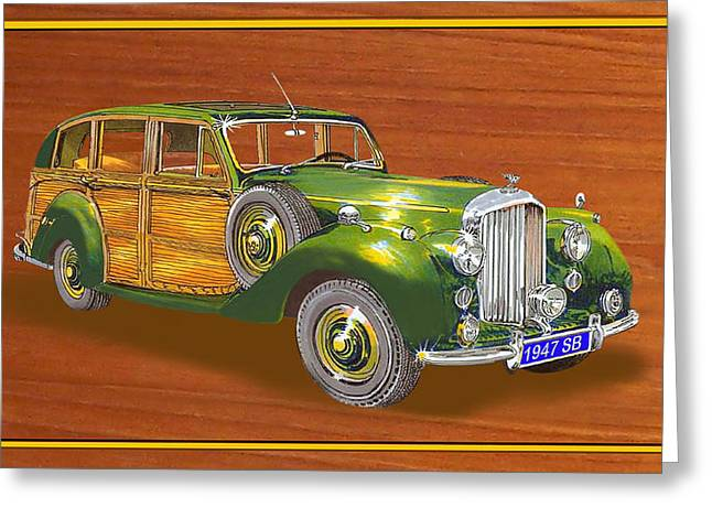 Station Wagon Paintings Greeting Cards - 1947 Bentley Shooting Brake Greeting Card by Jack Pumphrey