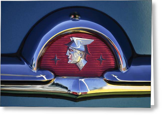 Monterey Greeting Cards - 1953 Mercury Monterey Emblem Greeting Card by Jill Reger