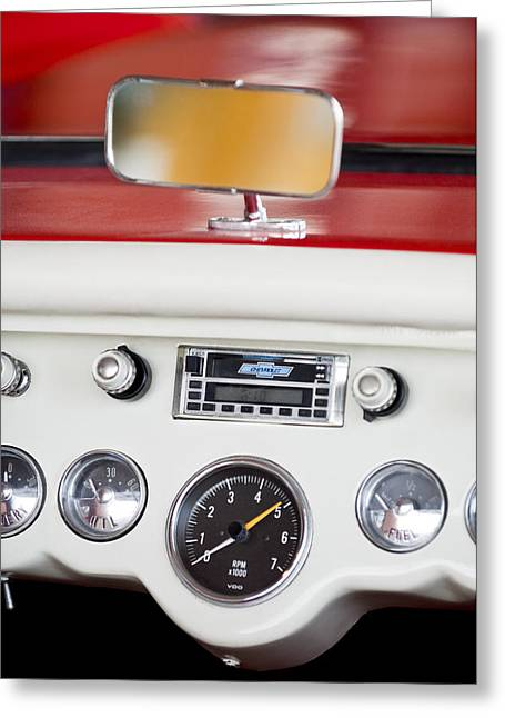 Famous Photographers Greeting Cards - 1954 Chevrolet Corvette Dashboard Greeting Card by Jill Reger