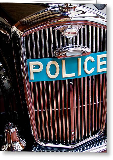1954 Wolseley 6 80 Police Car Greeting Card by David Patterson