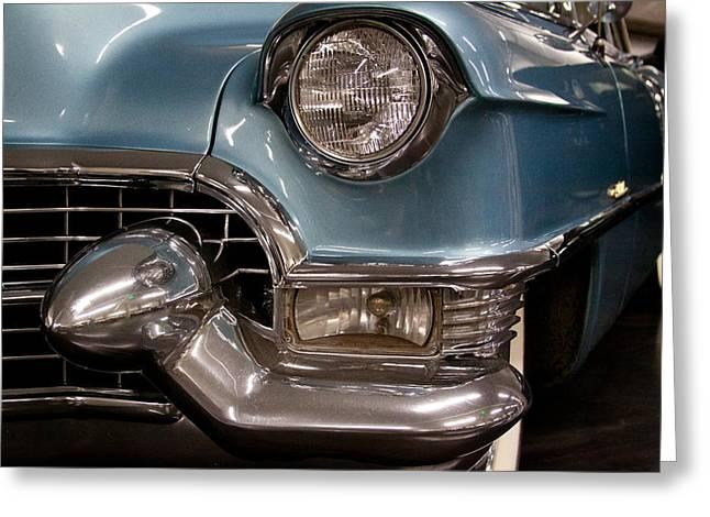 Mascots Greeting Cards - 1955 Cadillac Eldorado 2 Door Convertible Greeting Card by David Patterson