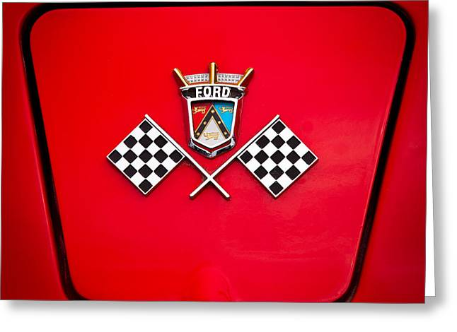 Collector Hood Ornament Greeting Cards - 1955 Ford Thunderbird Greeting Card by David Patterson
