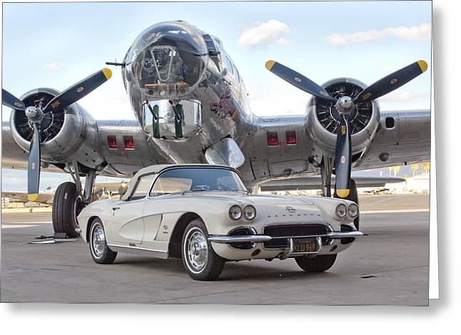Sentimental Greeting Cards - 1962 Chevrolet Corvette Greeting Card by Jill Reger