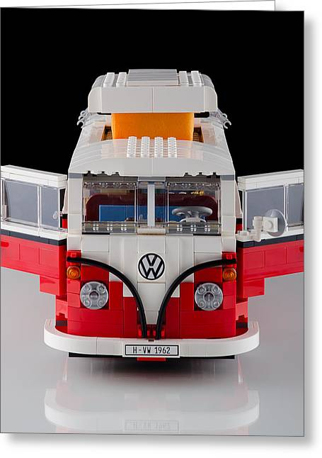 Lego Greeting Cards - 1962 VW Lego Bus Greeting Card by Noah Katz