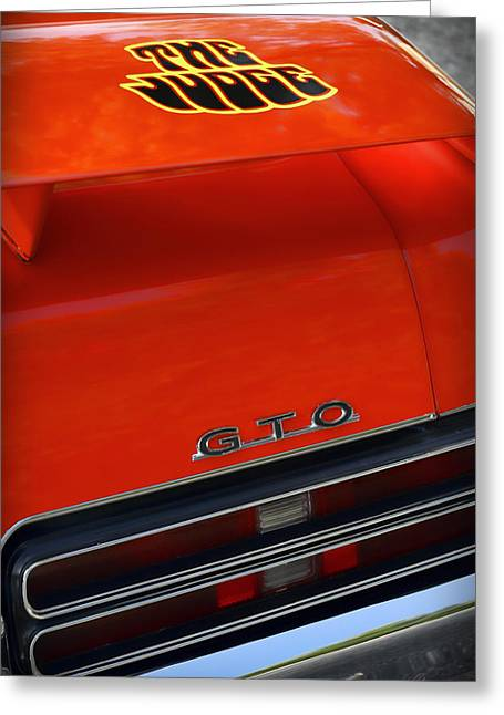 Indianapolis 500 Greeting Cards - 1969 Pontiac GTO The Judge Greeting Card by Gordon Dean II