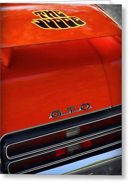 Indy Car Greeting Cards - 1969 Pontiac GTO The Judge Greeting Card by Gordon Dean II