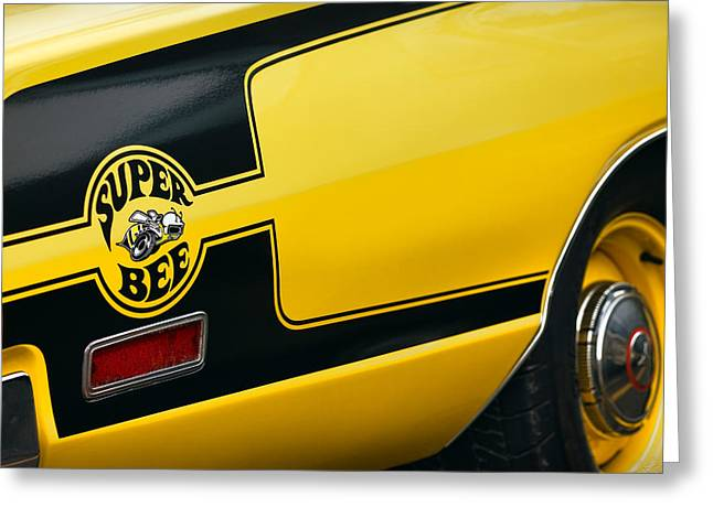 Dodge Coronet Super Bee Greeting Cards - 1970 Dodge Coronet Super Bee Greeting Card by Gordon Dean II