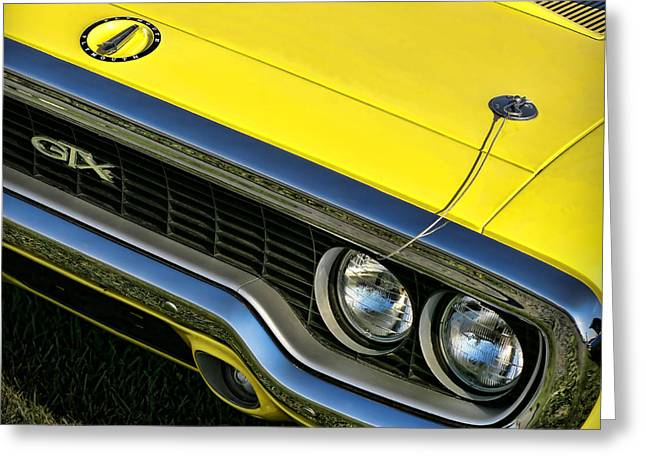 Mopar Collector Greeting Cards - 1971 Plymouth GTX 440 Greeting Card by Gordon Dean II