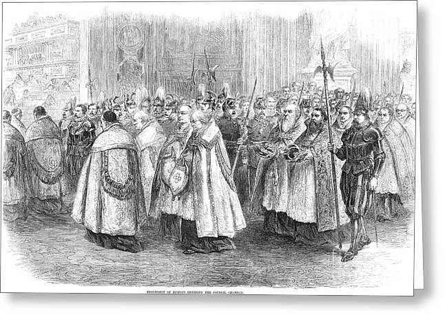 Reform Greeting Cards - 1st VATICAN COUNCIL, 1869 Greeting Card by Granger