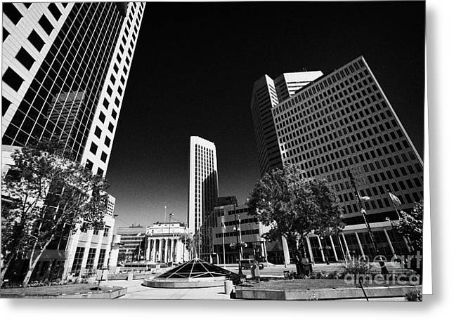 Dominion Greeting Cards - 201 Portage Canwest Place Toronto Dominion Centre Tdc Downtown Winnipeg Manitoba Canada Greeting Card by Joe Fox