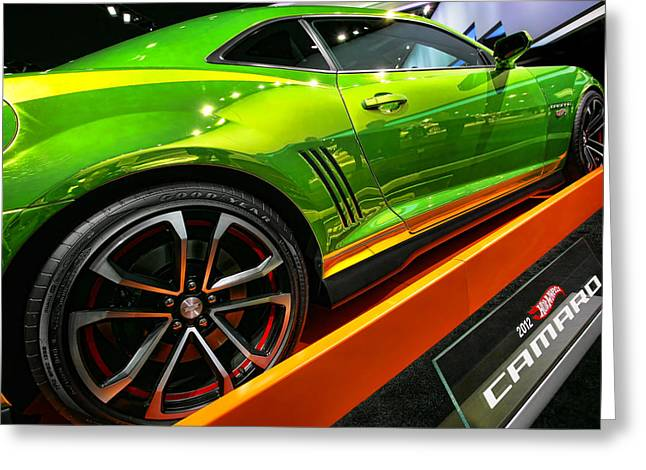 2012 Digital Art Greeting Cards - 2012 Chevy Camaro Hot Wheels Concept Greeting Card by Gordon Dean II