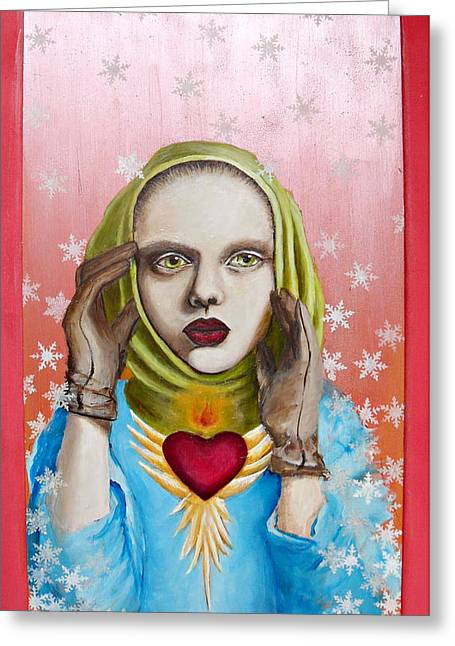 Immaculate Heart Greeting Cards - 28 Winters Greeting Card by Erin O