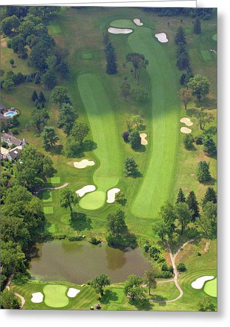 Plymouth Meeting Aerials Greeting Cards - 3rd Hole Sunnybrook Golf Club 398 Stenton Avenue Plymouth Meeting PA 19462 1243 Greeting Card by Duncan Pearson