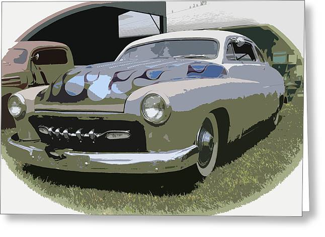 49 Chevy Greeting Cards - 50 Merc Greeting Card by Steve McKinzie