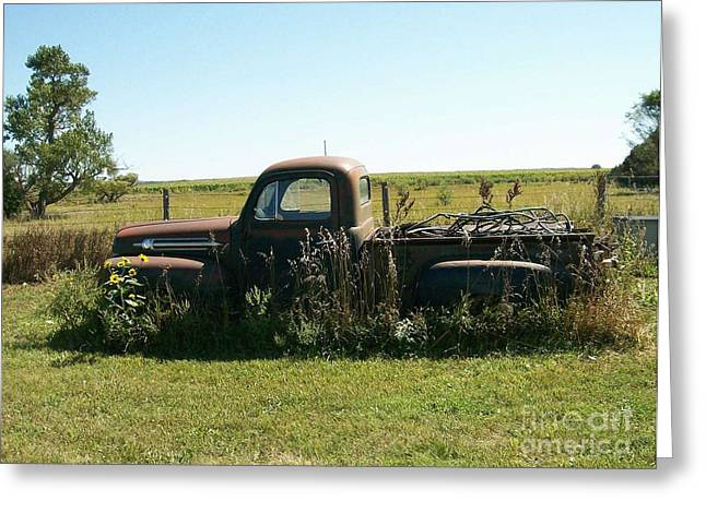 Lanscape Drawings Greeting Cards - 53 Ford Greeting Card by Roy Penny