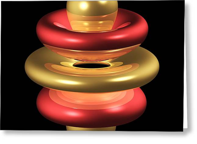 5gz4 Electron Orbital Greeting Card by Dr Mark J. Winter