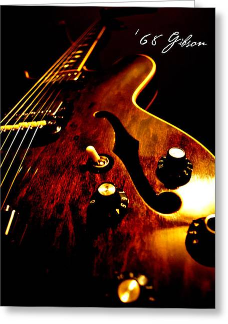 Rhythm Greeting Cards - 68 Gibson Greeting Card by Christopher Gaston