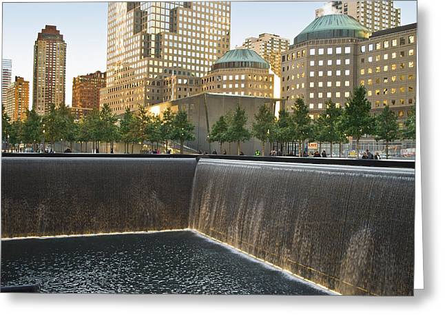 911 Memorial Park Greeting Card by Andrew Kazmierski