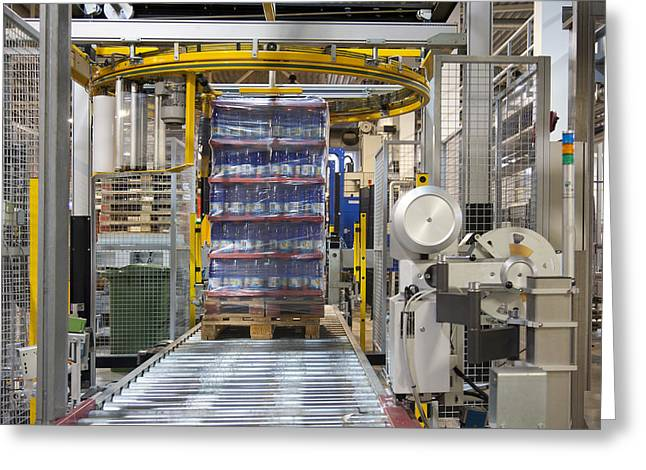 Automated Photographs Greeting Cards - A Bottling Plant In Estonia Greeting Card by Jaak Nilson