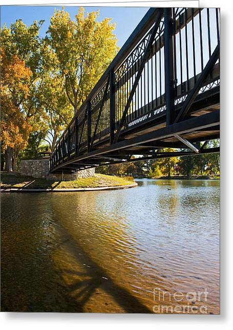 Casting A Shadow Greeting Cards - A Bridge Crossing Water to an Island Greeting Card by Thom Gourley/Flatbread Images, LLC