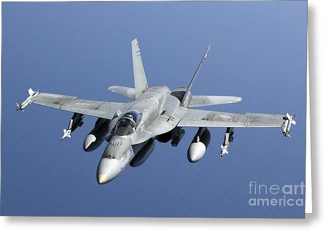 Civil Aviation Greeting Cards - A Cf-188a Hornet Of The Royal Canadian Greeting Card by Gert Kromhout
