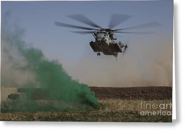 Helmand Province Greeting Cards - A Ch-53 Super Stallion Helicopter Greeting Card by Stocktrek Images