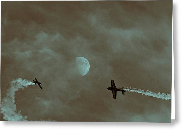 Aerobatics Greeting Cards - A Flight to Remember Greeting Card by Douglas Barnard