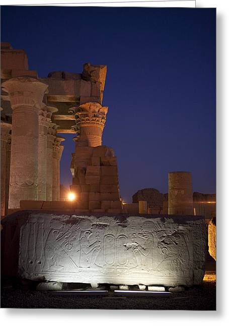 A Fragment Of The Temple That Greeting Card by Taylor S. Kennedy