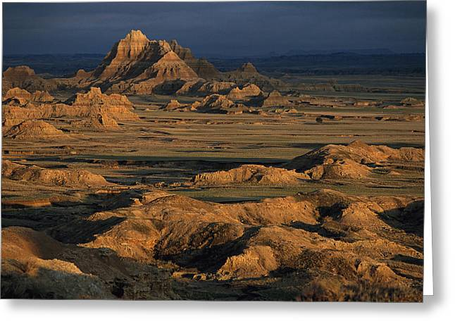 A Landscape Of Isolated Buttes And Rock Greeting Card by Annie Griffiths