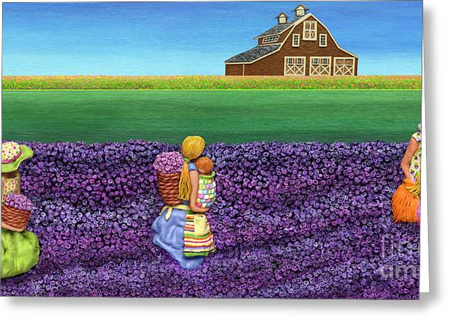 Spring Scenes Mixed Media Greeting Cards - A Moment Greeting Card by Anne Klar