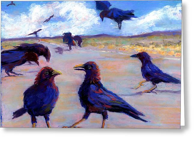 Highway Pastels Greeting Cards - A Murder During The Day Greeting Card by Cheryl Whitehall